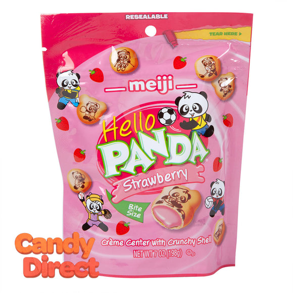 Strawberry Hello Panda 7oz Pouch - 6ct