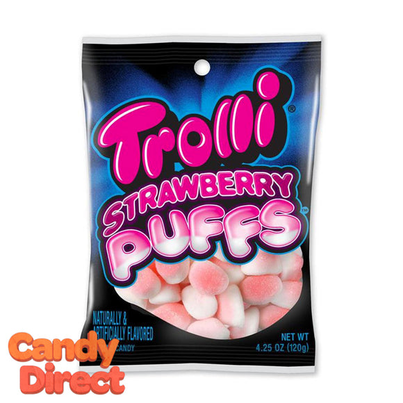 Strawberry Puffs Gummy Candy - 12ct Bags