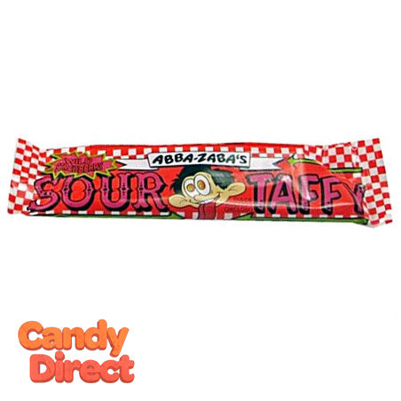 Strawberry Sour Taffy Abba Zaba - 24ct