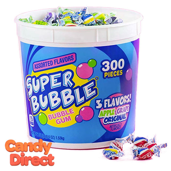 Super Bubble 3 Flavor Bucket - 300ct