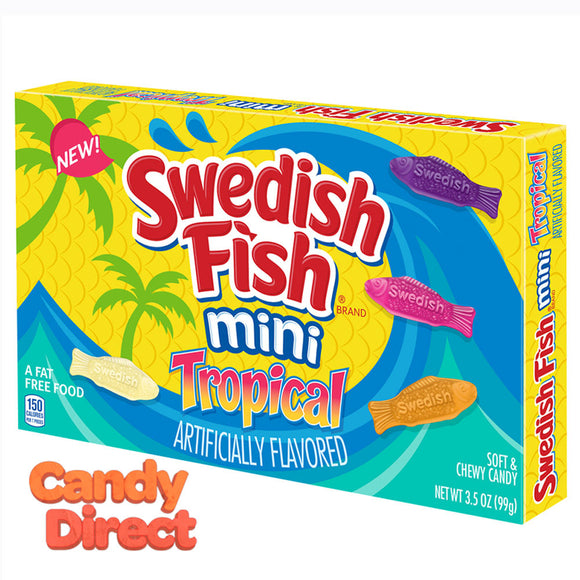 Swedish Mini Tropical Fish 3.5oz Theater Box - 12ct