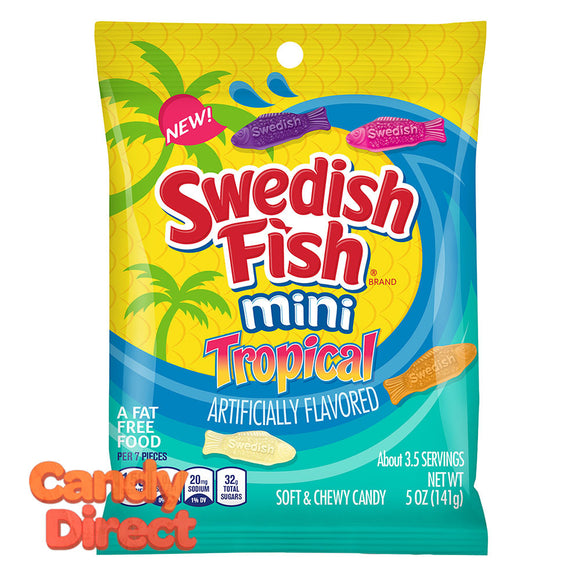 Swedish Mini Tropical Fish 5oz Peg Bag - 12ct