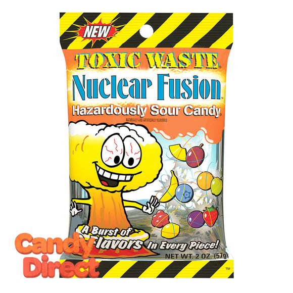 Toxic Waste Nuclear Fusion Candy 2oz Peg Bag - 12ct