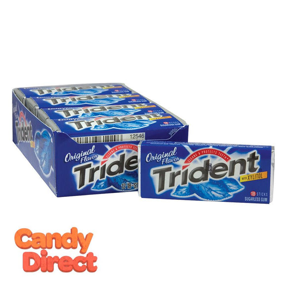 Trident Original Sugar Free Gum - 12ct