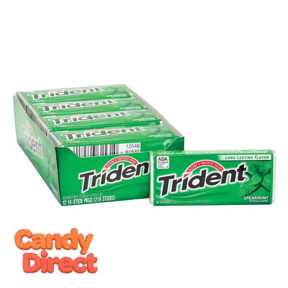 Trident Spearmint Sugar Free Gum - 12ct