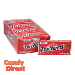 Trident Strawberry Sugar Free Gum - 12ct