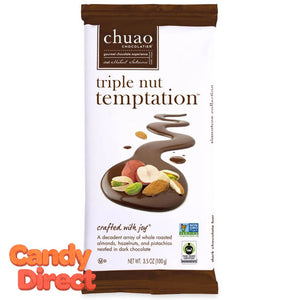 Triple Nut Temptation Chuao Dark Chocolate Bars - 10ct