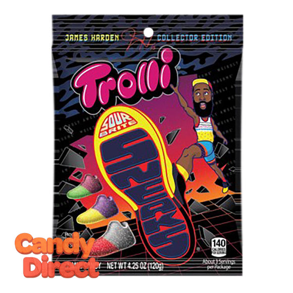 Trolli James Harden Sneaks Sour Brite 4.25oz Peg Bag - 12ct