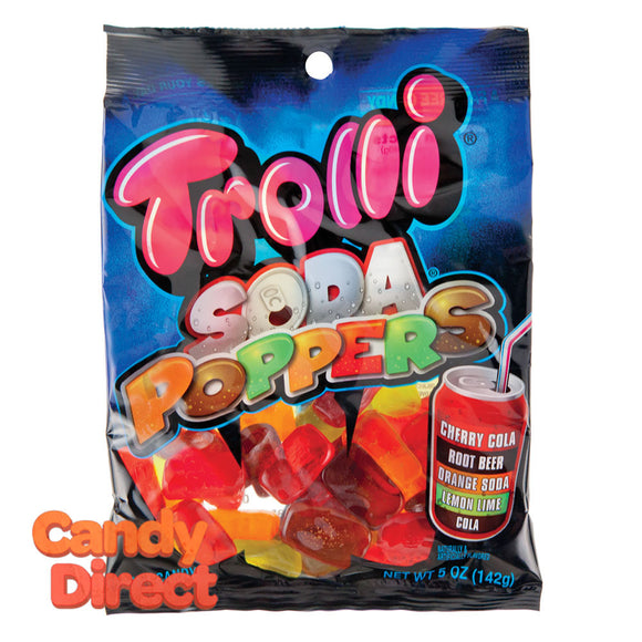 Trolli Soda Poppers Gummy 5oz Peg Bag - 12ct