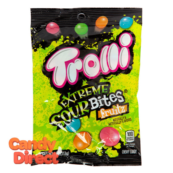 Trolli Sour Bites Extreme 4oz Peg Bag - 12ct