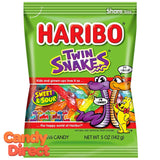 Twin Snakes Haribo Gummi Candy 5oz Bag - 12ct