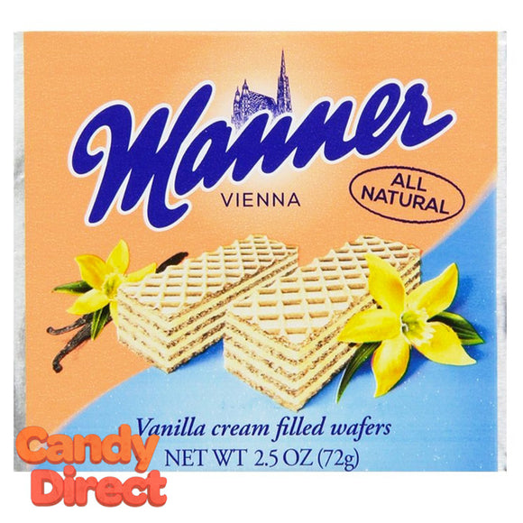 Vanilla Manner Cream-Filled Wafers - 12ct