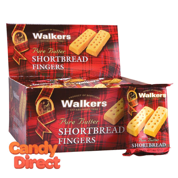 Walkers Finger Cookies Shortbread 2 Pc 1.4oz - 24ct