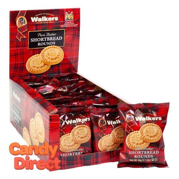 Walkers Rounds Twin Pack Shortbread 1.2oz - 22ct