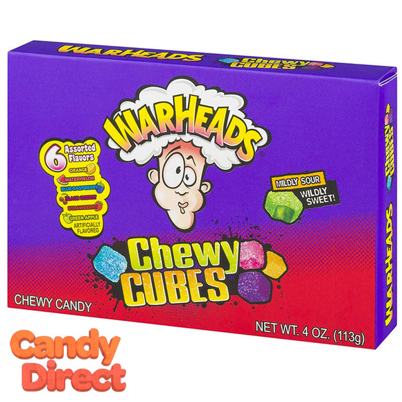 Warhead Sour Chewy Cubes Theater Box - 12ct