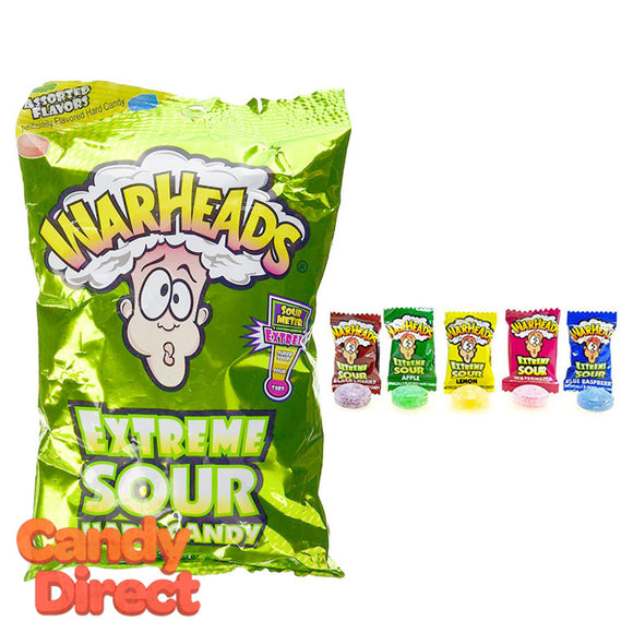 Warheads Extreme Sour Hard Candy Bags - 12ct