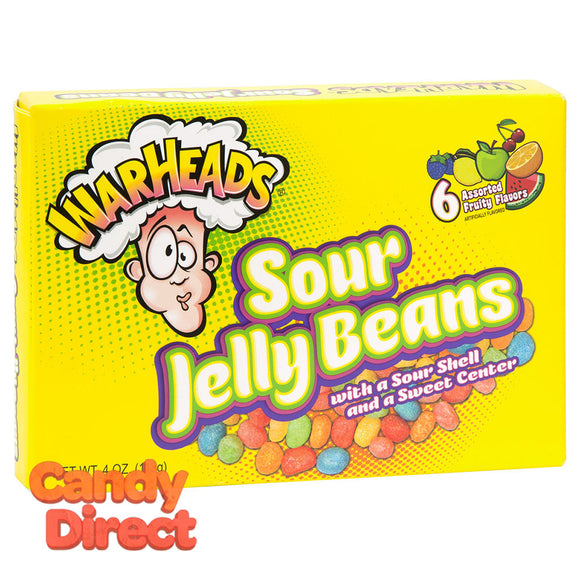 Warheads Jelly Beans Sour 4oz Theater Box - 12ct