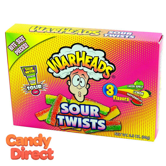 Warheads Sour Twists Theater Box - 12ct