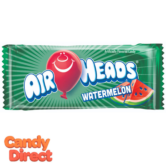 Watermelon Airheads Mini Bars - 25lb Bulk