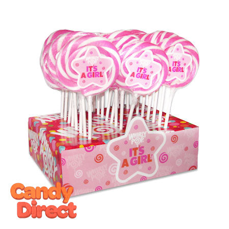 Whirly Pops It's a Girl 1.5oz - 24ct