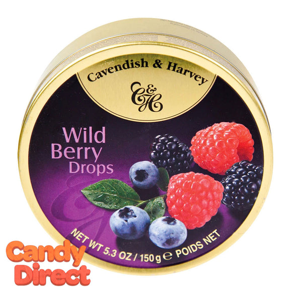 Wild Berry Fruit Cavendish & Harvey Drops - 12ct Tins