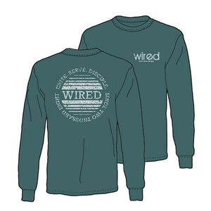 Circle Fade Long Sleeve Tee