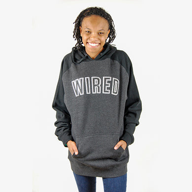 Applique Raglan Hooded Pullover Hoodie