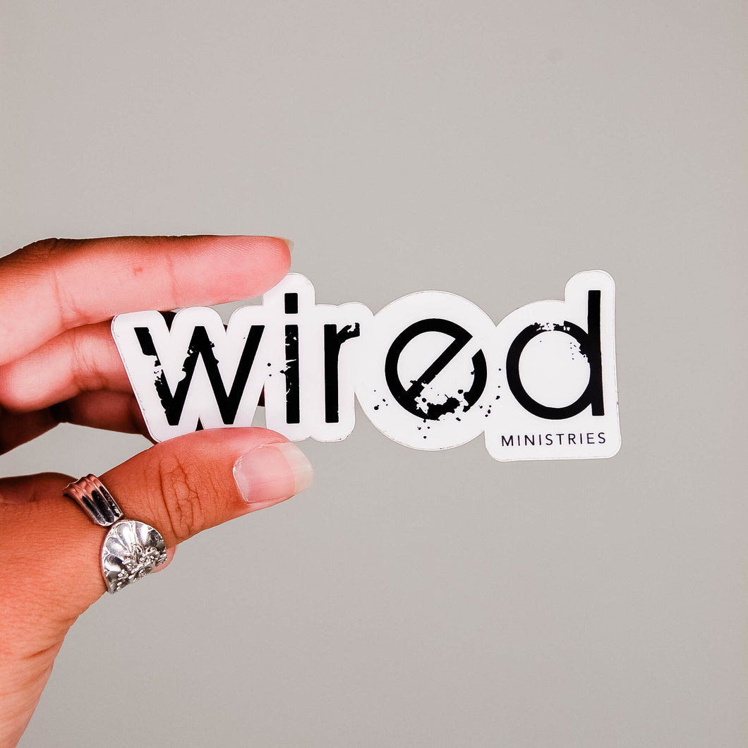WIRED Ministries Die Cut Sticker