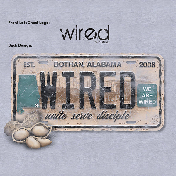 License Plate Tee – Wired Ministries