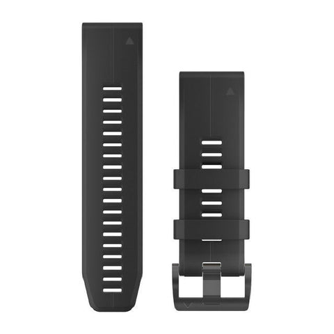 Garmin QuickFit 26 - Black Silicone Replacement Band