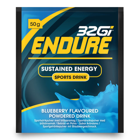 32Gi Endure Sports Drink - Blueberry - Box of 15 (50 g Sachets)