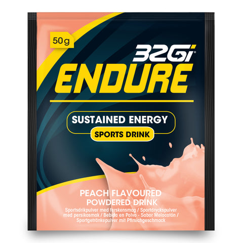 32Gi Endure Sports Drink - Peach - Box of 15 (50 g Sachets)
