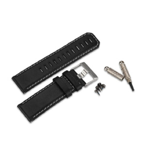 Garmin fenix - Black Leather Replacement Band