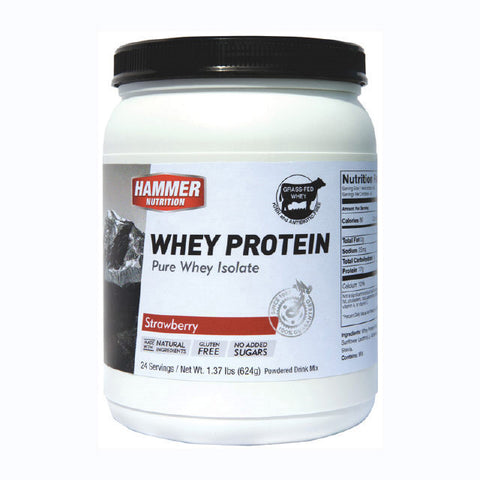 Hammer Nutrition Whey Protein - Strawberry - 624 g Tub