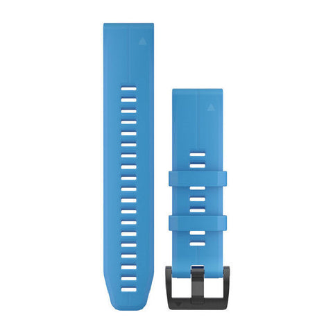 Garmin QuickFit 22 - Cyan Blue Silicone Replacement Band