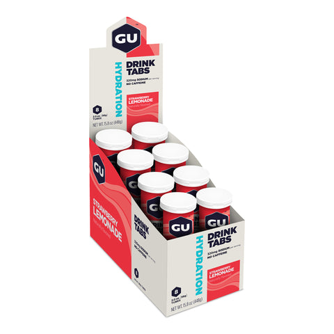 GU Hydration Drink Tabs - Strawberry Lemonade - Box of 8