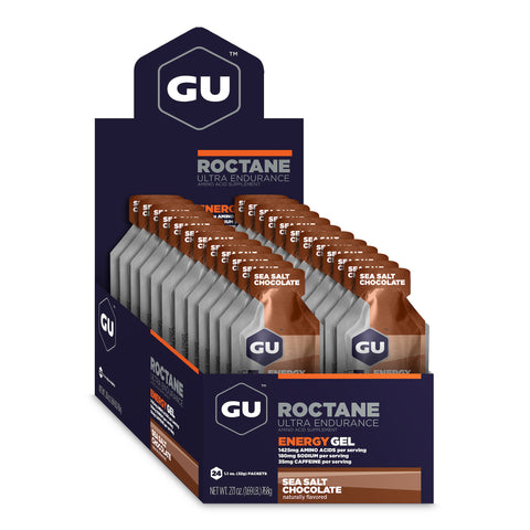 GU Roctane Energy Gel - Sea Salt Chocolate - Box of 24