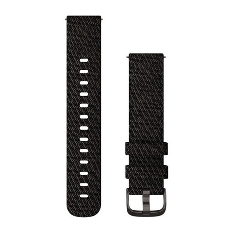 Garmin Quick Release 20 - Black Pepper/Slate Woven Nylon Band