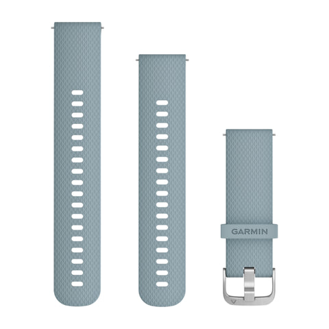 Garmin Quick Release Band - Sea Foam Silicone Band with Silver Hardware