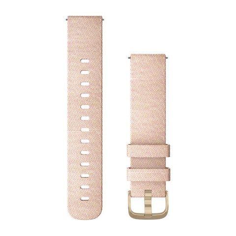 Garmin Quick Release 20 - Blush Pink/Light Gold Woven Nylon Band