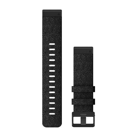 Garmin QuickFit 22 - Heathered Black Nylon Band