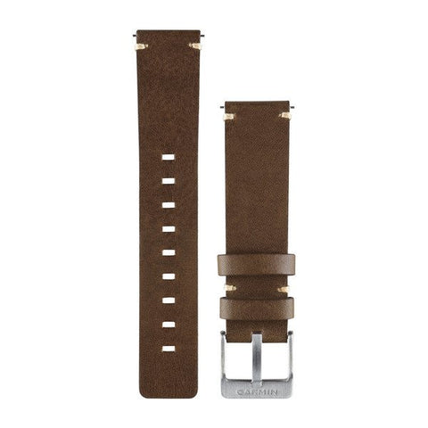 Garmin Quick Release - Dark Brown Leather Band