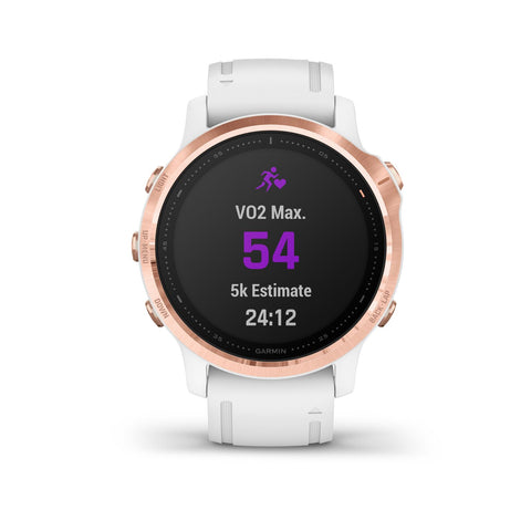 Garmin fenix 6S Pro - Rose Gold with White Band