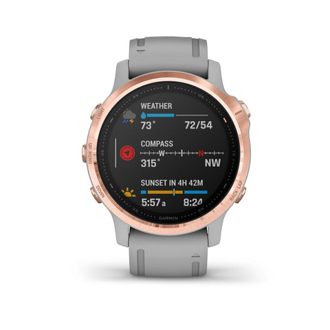 Garmin fenix 6S Sapphire - Rose Gold with Powder Gray Band