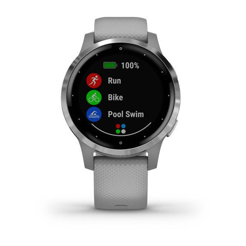 Garmin vivoactive 4S - Powder Gray / Silver