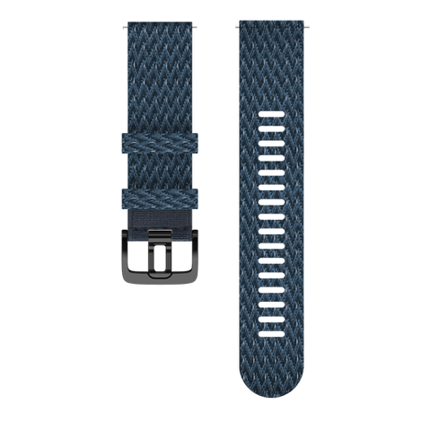 Polar Woven Wristband 22mm Med/Large - Blue Paracord