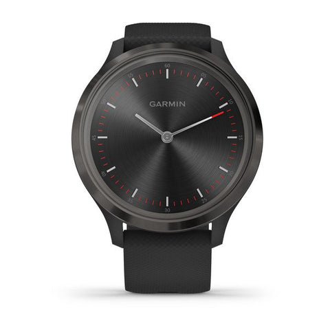 Garmin vivomove 3 - Sport (44mm) - Slate Stainless Steel Bezel with Black Case and Silicone Band