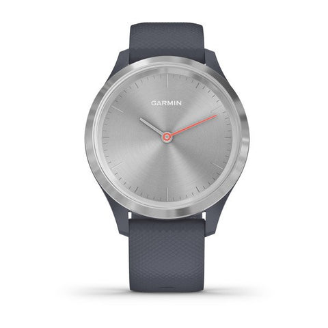 Garmin vivomove 3S - Sport (39mm) - Silver Stainless Steel Bezel with Granite Blue Case and Silicone Band