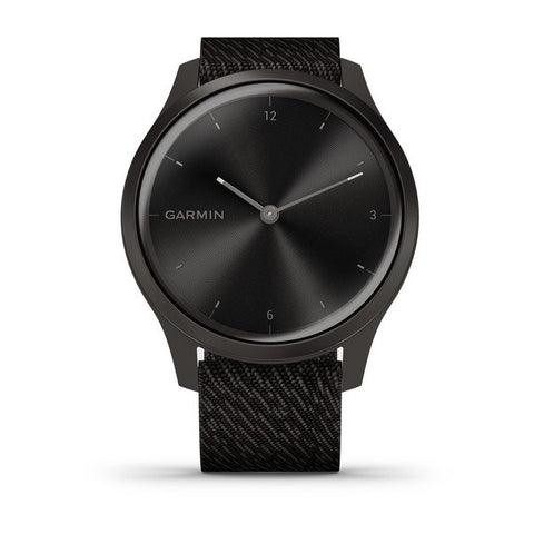 Garmin vivomove Style - Graphite Aluminium Case with Black Pepper Woven Nylon Band
