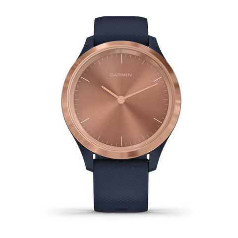 Garmin vivomove 3S - Sport (39mm) - Rose Gold Stainless Steel Bezel with Navy Case and Silicone Band